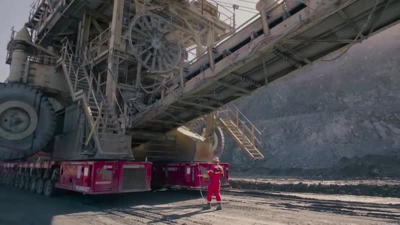 Уникальная перевозка дробилки весом 690 тонн в карьере A.R. Wilson Quarry, Аромас, Калифорния