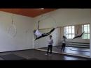 Открытый урок по акробатике и воздушной гимнастике 30.06.18г. Шабурова Виктория, Миронова Ксения