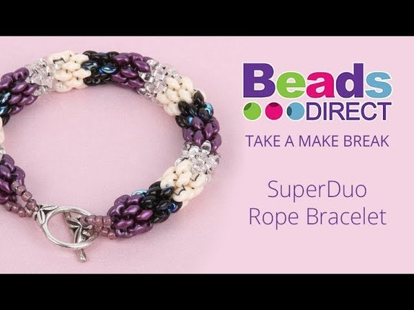 SuperDuo Rope Bracelet | Take a Make Break with Beads Direct