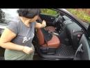 Профессиональная установка 3D кожаных автоковриков с текстильными вкладышами Ниссан Кашкай 1 2012 года