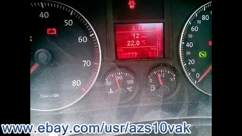 Carprog VW Golf5 - 2007 dashboard mileage correction with A1 obd2 via can