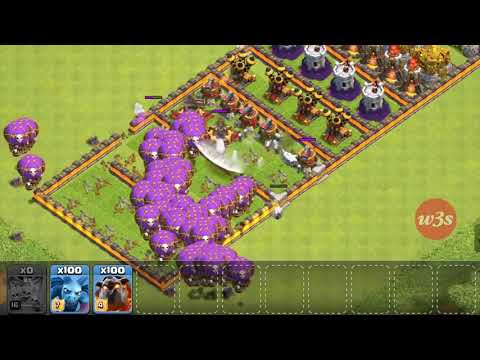 Who Can Survive This Difficult Trap on COC Trap VS Troops 4 1