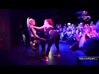 Bhad bhabie & pia mia at the roxy