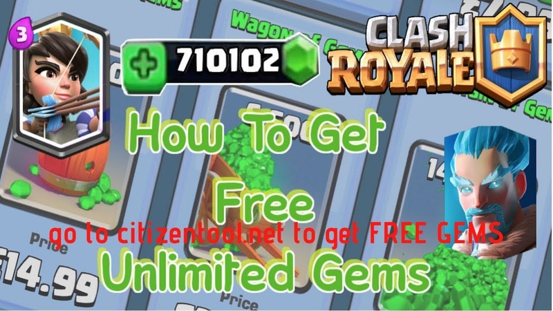 HOW TO HACK FREE GEMS IN CLASH ROYALE [NO SURVEY, ANTIBAN]