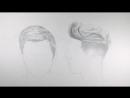 как рисовать короткие волосы