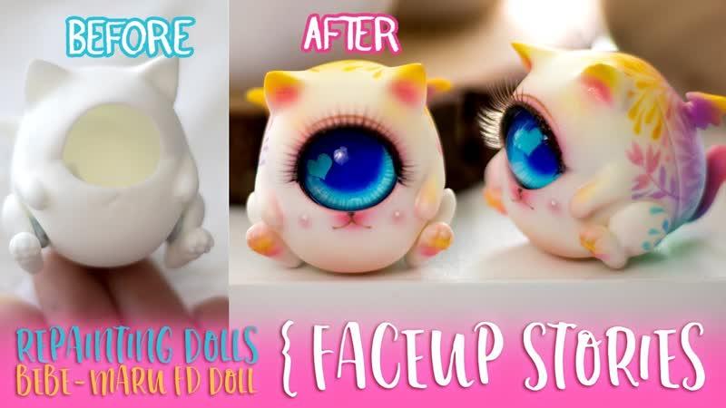 Repainting Dolls - Fingertip Dreamland Bebe Maru - Faceup Stories ep.56