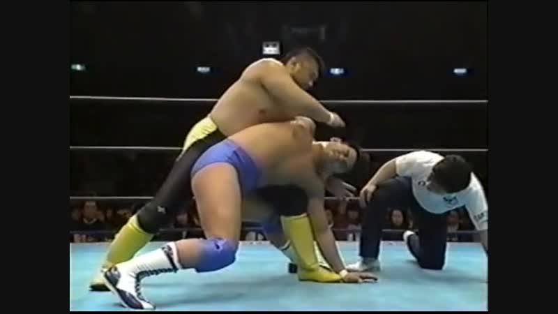 1995.03.21 - Toshiaki Kawada vs. Jun Akiyama