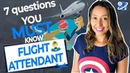 7 MUST Know Questions To Ask The Flight Attendant English at the Airport