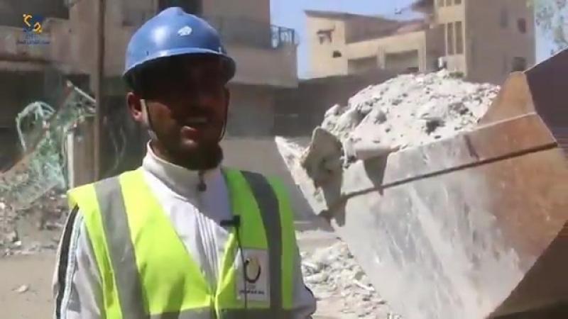 Работы в Ракка) 06.09.2018 удаление щебня