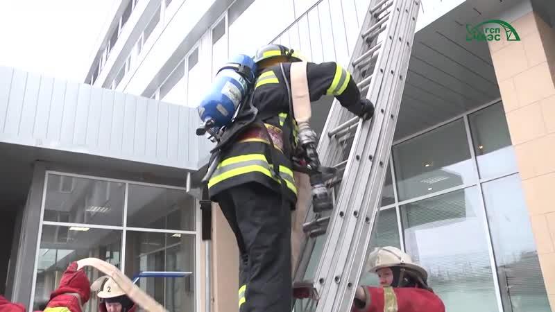 Противопожарное обучение на ЧАЭС