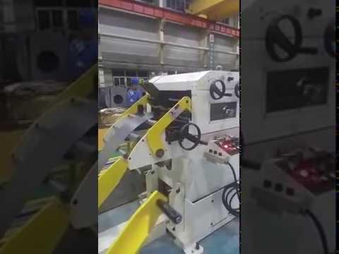 Decoiler Straightener Machine with Servo Roll Feeder for Sheet Metal Stamping Line