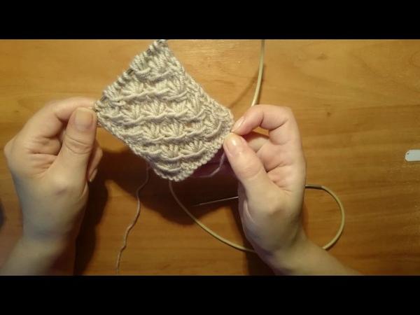 Вязание спицами: Простой узор для кардиганов шапок 55