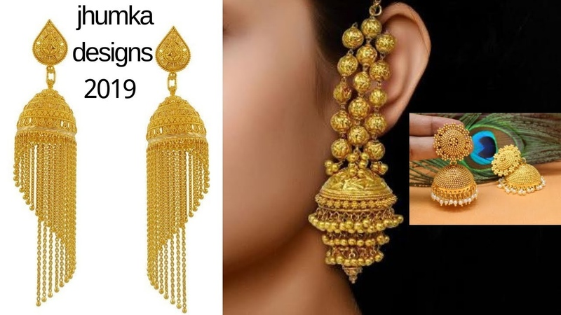 New latest gold jhumka designs 2019   beautiful designs of gold jhumkas with price