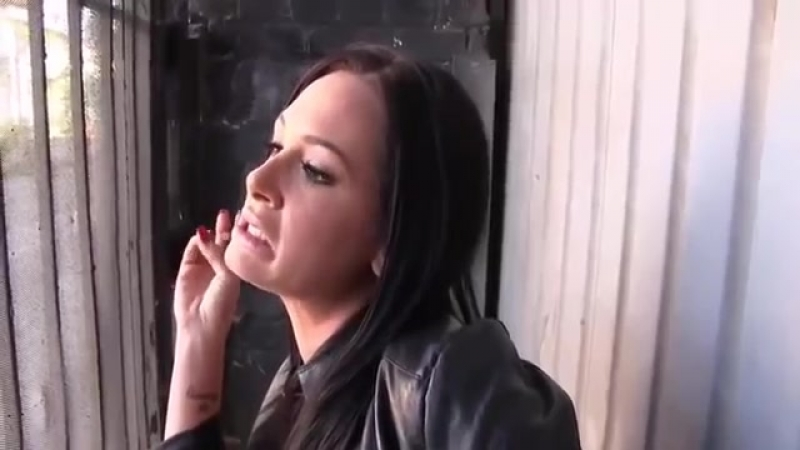 Interview Tory Lane in backstage smoking cigarette 480p