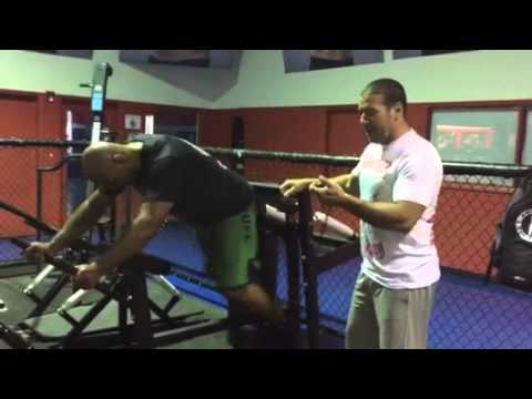 Marcos rogerio Pezao training for ufc w Stefane dias 2015