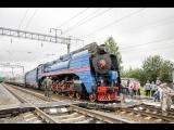 Прибытие в Харовск ретро-поезда на паровозной тяге 16 августа 2018