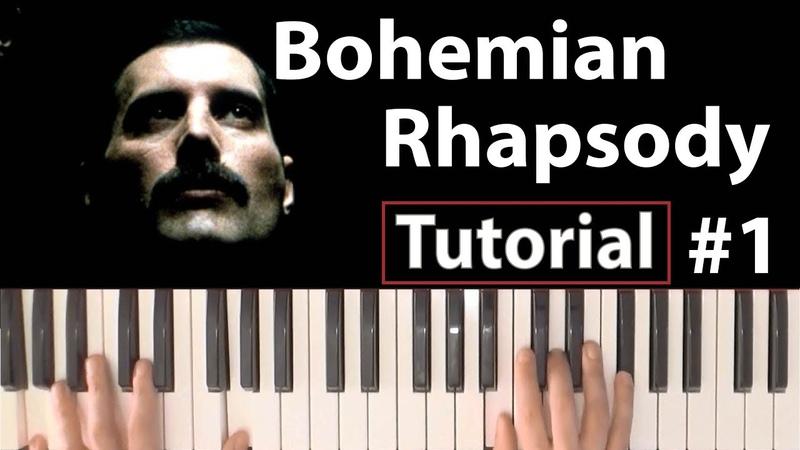 Como tocar Bohemian Rhapsody(Queen) - Parte 1/4 - Piano tutorial, partitura y Mp3