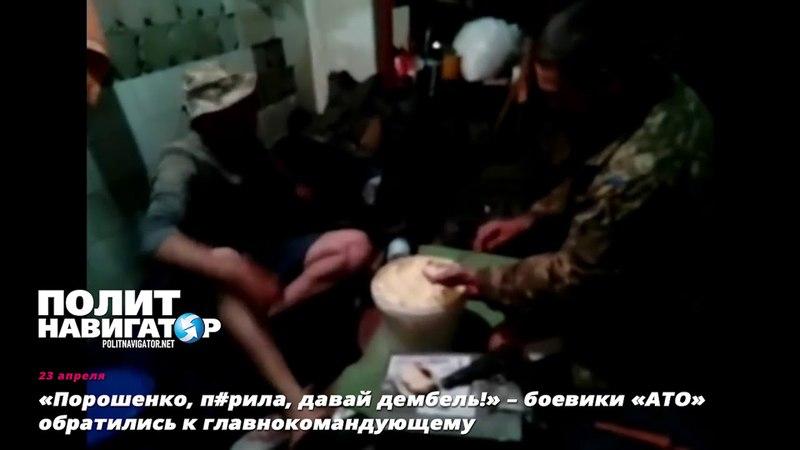 «Порошенко, прила, давай дембель!» – боевики «АТО» обратились к главнокомандующему