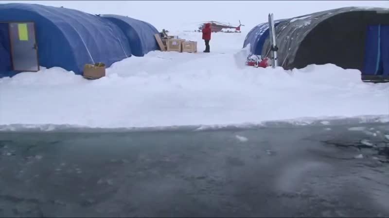 Арктика. Барнео 2016. Разлом льдины. (оригинал видео: www.youtube.com/watch?v=ATgTIup9qC8)