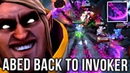 Abed Back to his Signature Hero Invoker Road to TOP-1 Dota 2
