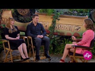 Jurassic World_ Chris Pratt  Bryce Dallas Howard Interview _ The Hype _ E!