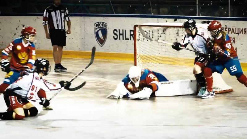 Победа женской сборной России в финале ЧМ по бол-хоккею в Дмитрове
