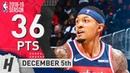 Bradley Beal Full Highlights Wizards vs Hawks 2018 12 05 36 Pts 9 Ast 6 Rebounds