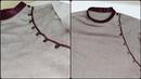 How to make side button kurta