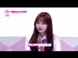 Chaewon reaction when Eunbi called her to join the game of the virtual orange. - - 프로듀스48 울림 울림즈 권은비 김채원 PRODUCE48