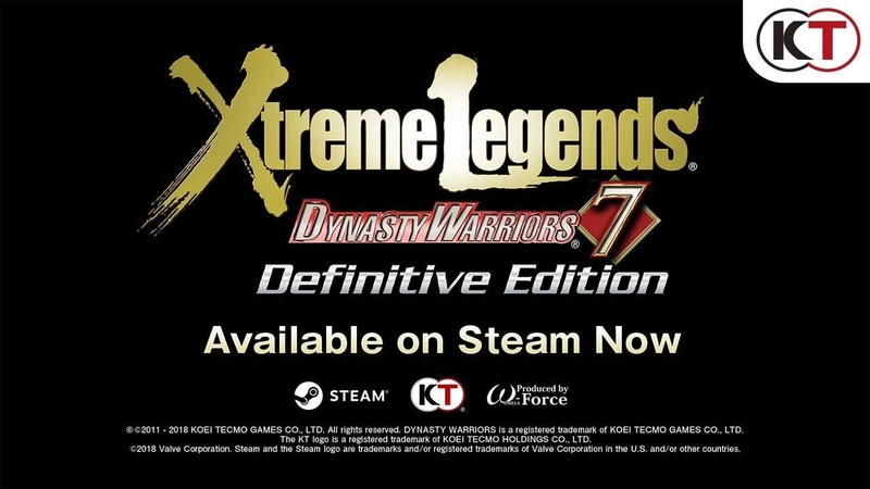 Dynasty Warriors 7 Xtreme Legends Definitive Edition Steam Trailer
