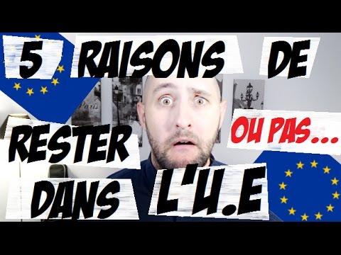 5 RAISONS DE RESTER DANS LUNION EUROPÉENNE...