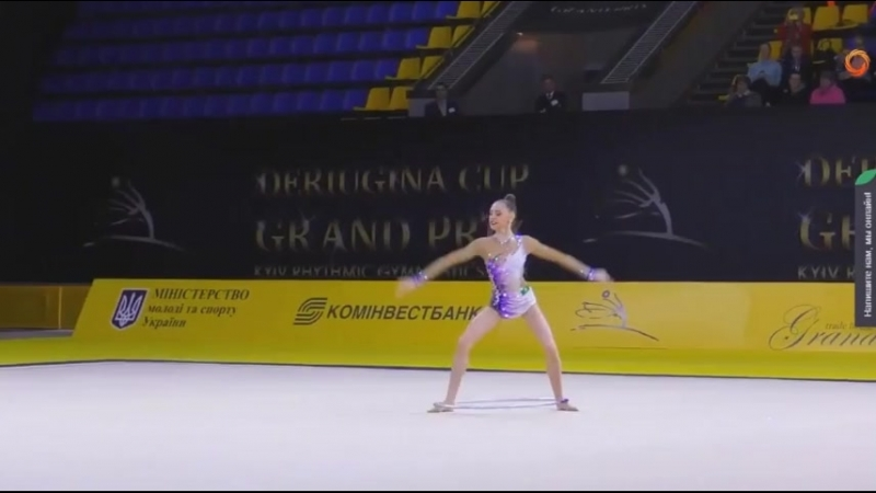 Дарья Трубникова обруч ( многоборье) Международный турнир юниорок 2018