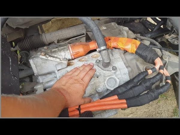 Мотор Nissan Leaf на полном форсаже в Peugeot Expert