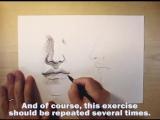 как нарисовать нос и губы карандашом