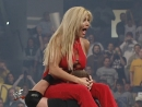 WWF Raw is War 8th October 2001 - The Dudley Boyz powerbombed Torrie Wilson through a table from the second rope