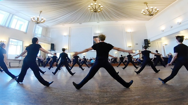 Репетиция Жок, Лето, Китайский с лентами. Балет Игоря Моисеева