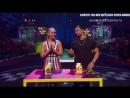 Roman Reigns And Lindsey Vonn Face Off In The Tissue Toss Challenge At The 2018 Kids' Choice Sports Awards