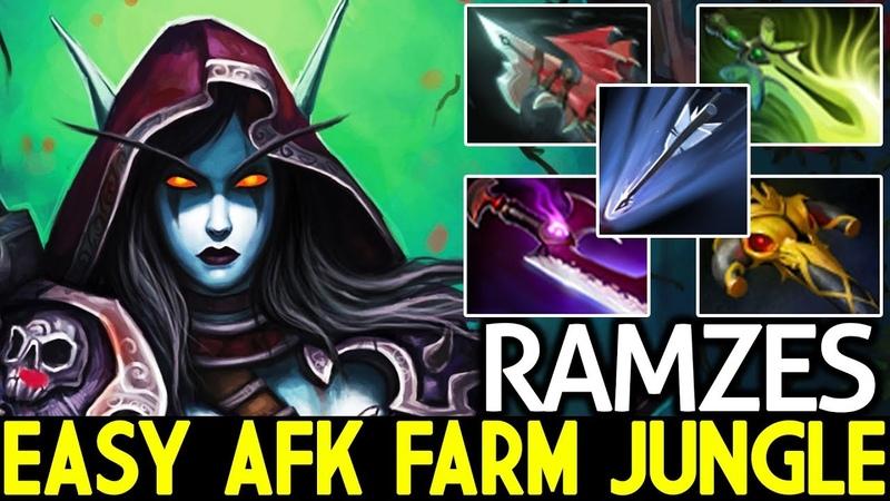 Ramzes [Drow Ranger] Easy AFK Farming Jungle Super Hero 7.20 Dota 2