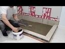 Shower liner and Concrete shower base. Как сделать душевой поддон