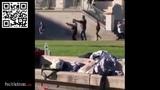 Frankreich - Afrikaner bedroht Passanten mit Axt
