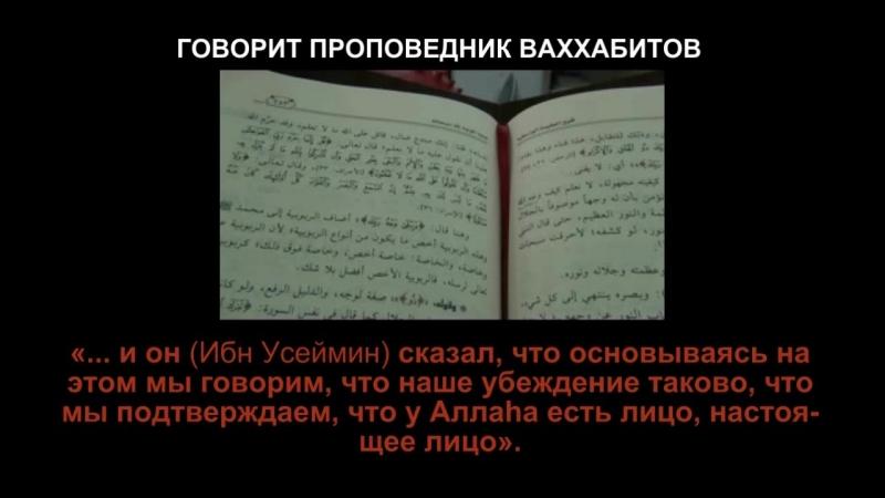 Что говорят псевдосаляфиты ваххабиты об Аллаhе