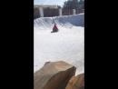 Катание на ледянке