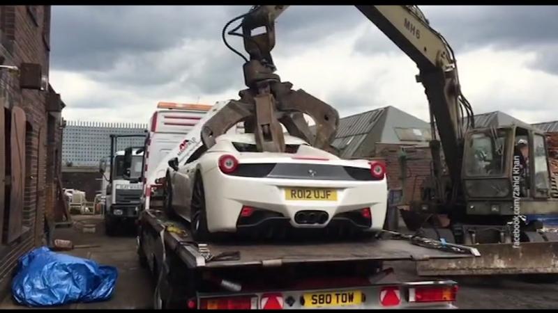 Полиция превратила Ferrari всмятку Грузовик сдуло Паника в горящем автобусе Мобильный репортер 21 03 18