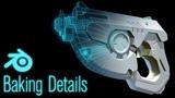 Making Tracer's Gun in Blender (Part 5) UV Creation and Baking Details