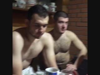 Алексей Слепов в бане (08.01.2019)