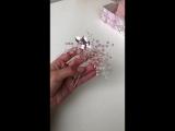 Шпилька с нежным розовым кварцем