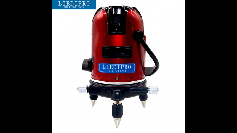 LIEDIPRO 5 Lines 6 Points Laser Level Automatic Self Leveling 360 VerticalHorizontal Cross Laser Line Outdoor Mode EU or US Plug