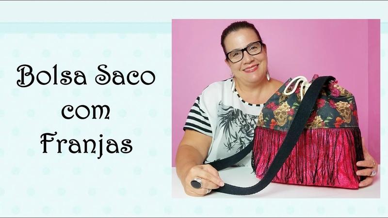 Tutorial: Como fazer uma Bolsa Saco com Franjas linda!