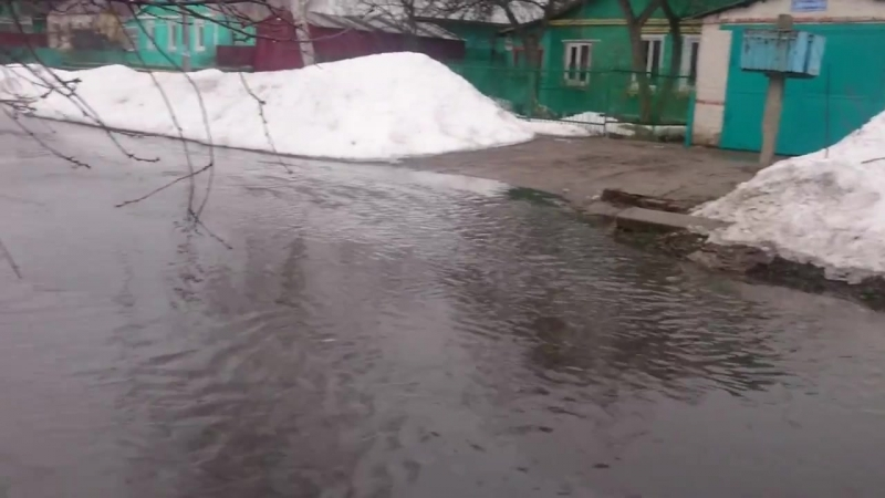 Паводок в Курске Прилужная. 2.04.2018