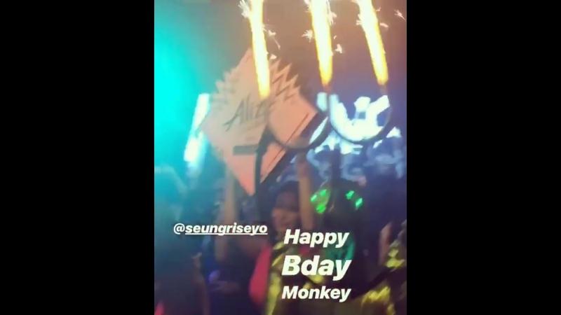 (28.07.18) Сынни на праздновании двухлетия Monkey Museum